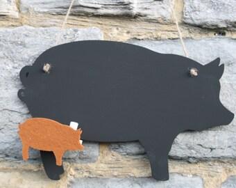 Standing Pig Blackboard / Chalkboard