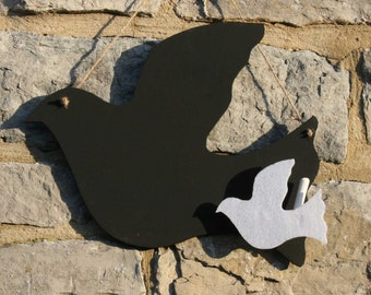 Simple Flying Dove Blackboard