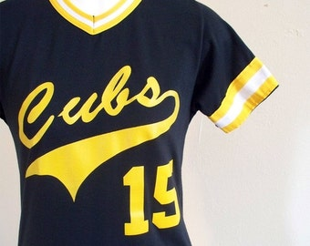 VTG 80s Wilson Intrameral Cubs Jersey Tee Youth XL