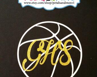 Monogrammed Basketball Shirt