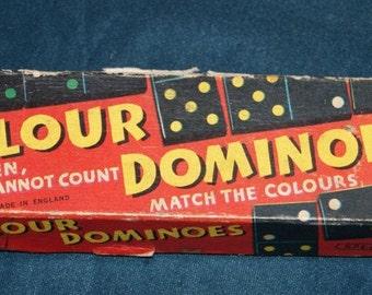 Vintage Dominos 1950s 60s Coloured