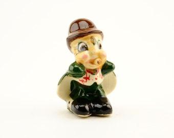 Vintage Disney - Jiminy Cricket Figurine - Post War Occupied Japan Made - 1950's