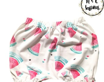 Watermelon Bubble Shorts Infant Baby Toddler Child custom- Handmade to order