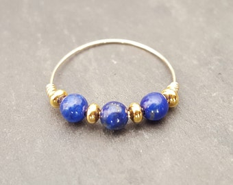 Ring gold filled and Lapis Lazuli