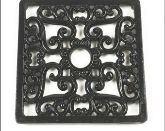 Trivet - Heavy duty V4 Square - black