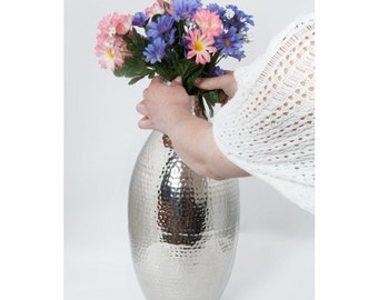 Haslingfield Hall Planished Flower Vase