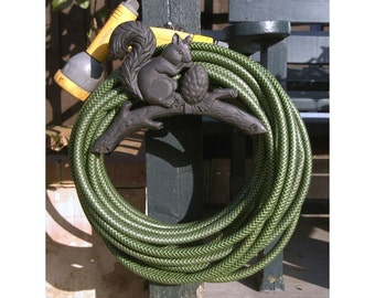 Items similar to LG Cherry Red Steel Hose Holder Garden Hose