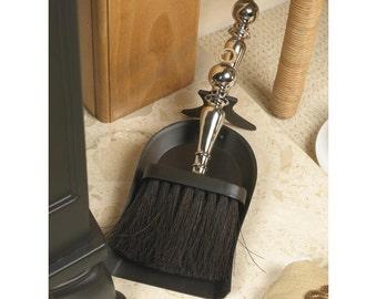 Regency Black Nickel Pan and Brush Set