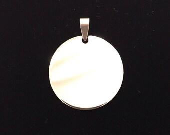 Medium Circle Pendant with possibility of custom engraving