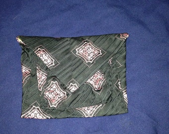 Upcycled tie clutch/pouch