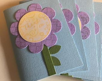 Flower thankyou gift card set