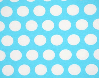 Knit Ice Blue Dots Fabric 1 yard