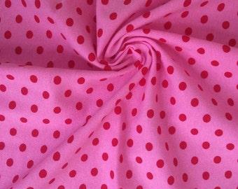 Knit Strawberry Small Dots Fabric 1 yard