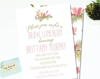 """Pink & Green Floral Bridal Luncheon 