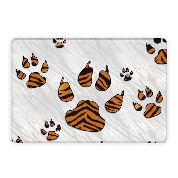 Tiger Print Paws Plush Area Rug Tiger Print Paws Rug Tiger