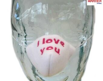Nose Warmer, I Love You Embroidered Nose Warmer. Nosewarmer, Nose Cozy, Gag Gift, Secret Santa, Valentine Gift. Design Registered.
