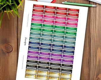 All Pro Hydrate Printable Planner Stickers for MAMBI Happy Planner, Erin Condren Life Planner, Travelers Notebook, DIY Planner