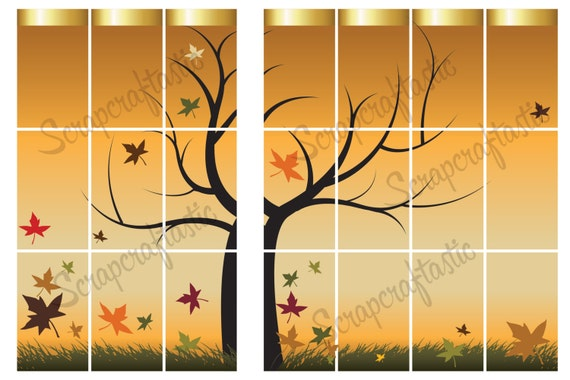 Autumn Printable Planner Sticker Spread for the Classic MAMBI Happy Planner
