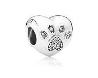 Sterling Silver I Love My Pet Charm THREADED