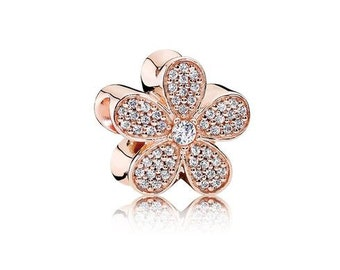 Sterling Silver Dazzling Daisy Charm
