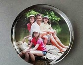 Custom Photo Paperweight, Your Photo Displayed in a Round Shaped Handcrafted Glass Paperweight, Personalized Gift, Home Decor