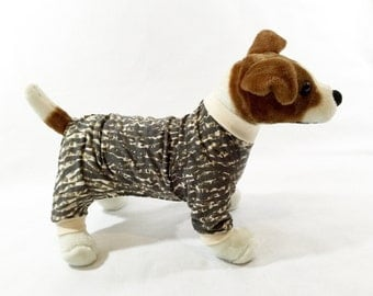 Bruno's Dog Pajamas - Handmade Dog  Clothes, Dog Clothing, Dog Apparel