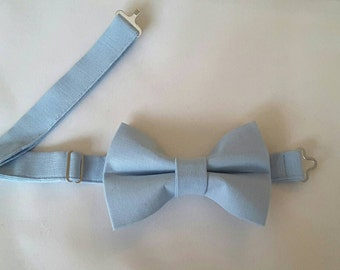 Mens Pastel Blue Bow Tie