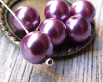 BACK IN STOCK.. 6mm Orleans Lavender, Pearl Beads
