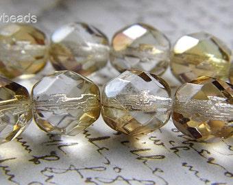 Twilight Champagne Czech Beads, Czech Beads, Supply Beads, sbp.w0003