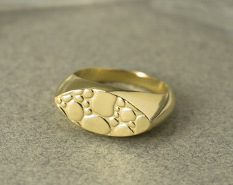 Signet Ring, Unique Ring Gold, Gold Signet Ring, Gold Boho Ring, Minimalist Ring Gold, Everyday Ring Gold, Statement Ring,