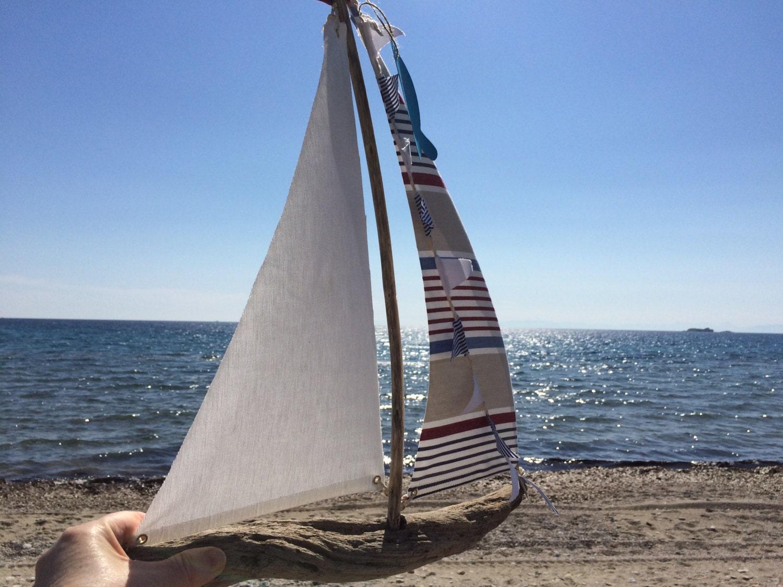 Sailboat Driftwood Home Decor Nautical Boat Coastal