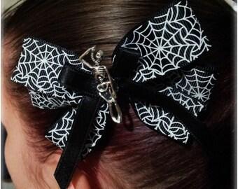 Halloween Skeleton Large Hair Clip