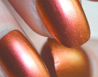 Bronze-Gold Flip - Handmade Indie Nail Polish - by Vuuxi Nail Lacquer