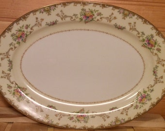 Gorgeous: 12 inch  Meito China Japan Hand Painted Serving Platter