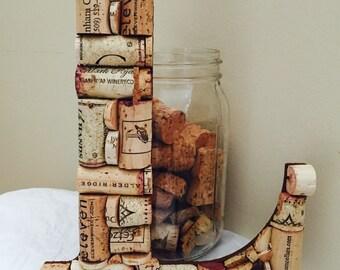 Wine Cork Letter L;Cork letter;Home Decor;Wedding shower gift; Decorations; Letter L;BEST SELLER!