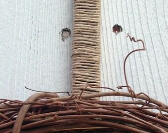 Wreath Hanger- Jute Wreath Hanger