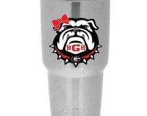 UGA Georgia Bulldogs MONGRAM Yeti Sticker | Available in multiple sizes