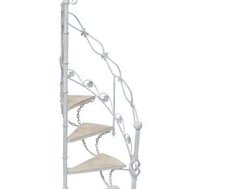 Wrought Iron Staircase Garden Stair Planter Metal Library Staircase Vintage Metal Staircase  Display Wedding Display  Event Shop Display