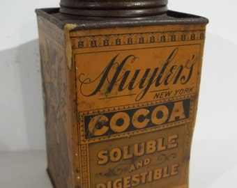 Vintage Huyler's Cocoa Tin