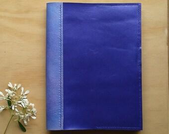 Purple kangaroo A5 notebook cover with pen loop closure