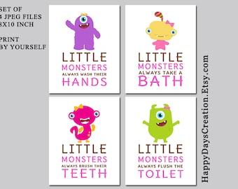 School Bathroom Rules set of 3 little mermaid bathroom rules girl's bathroom