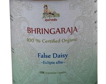 Organic Bhringraj Capsules (Eclipta Alba) - 108 Vcaps (USDA Certified Organic) - Gopala Ayurveda