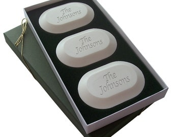 Name & Phrase Monogrammed Boxed Soap Set
