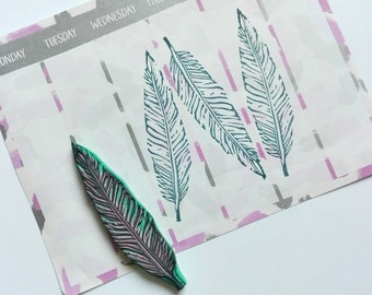 Sale!  Feather rubber stamp