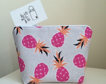 Jazzy Pineapple Cosmetic Bag