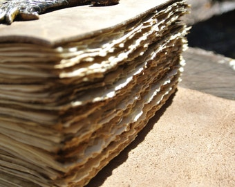 Hand Torn Pages