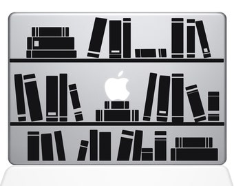 Bookshelf Library Macbook Decal (1649-MAC)