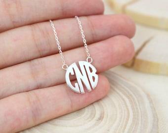 40% OFF Dainty Block Monogram Necklace • Custom Name Necklace • Monogram Necklace • Initial Necklace • Bridesmaid Gift • Wedding Gift • NH09
