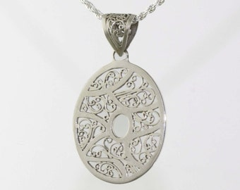 Med Oval Scroll Pendant LP 1858