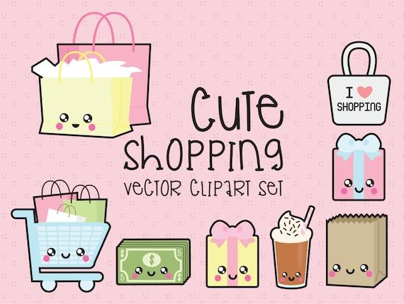 Premium Vector Clipart Kawaii Shopping Clipart Kawaii